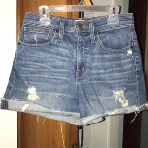 JCrew highwaisted cutoff jean shorts